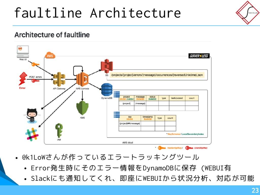 !23 faultline Architecture • @k1LoWさんが作っているエラート...
