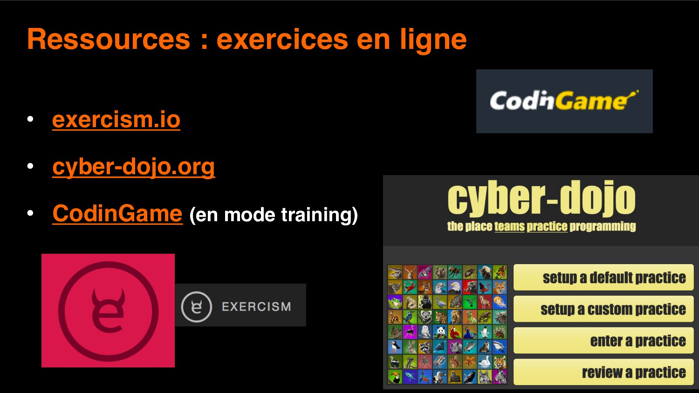 11 Ressources : exercices en ligne • exercism.i...