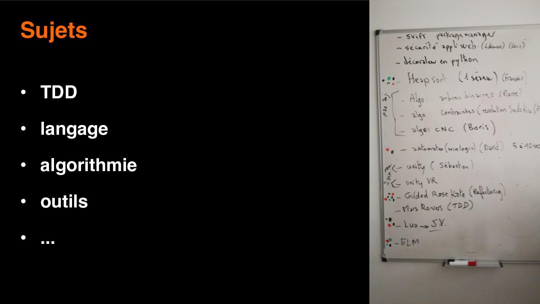 22 Sujets • TDD • langage • algorithmie • outil...