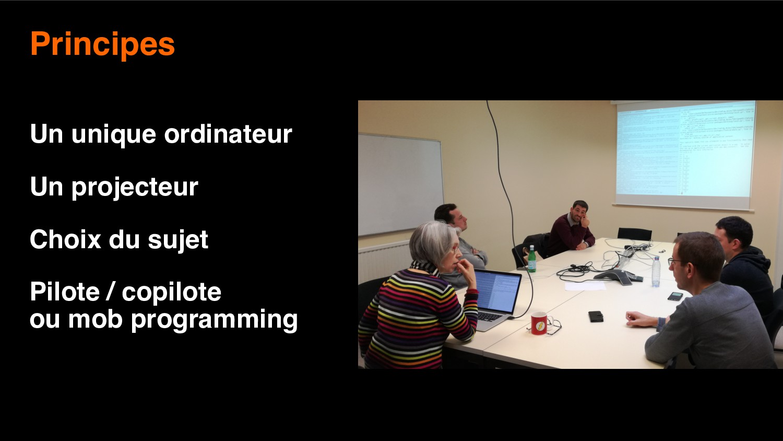 6 Principes Un unique ordinateur Un projecteur ...