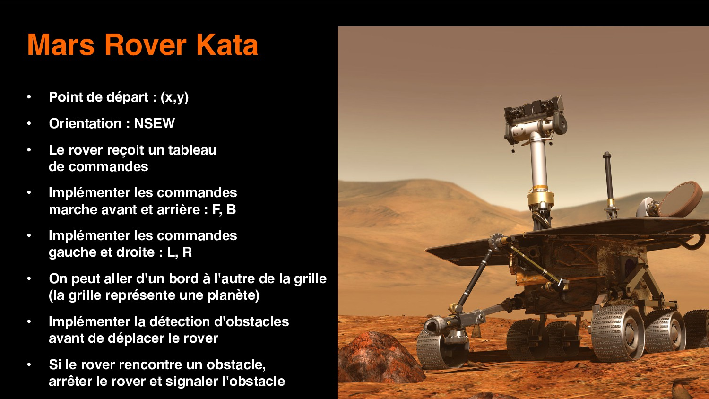 8 Mars Rover Kata • Point de départ : (x,y) • O...