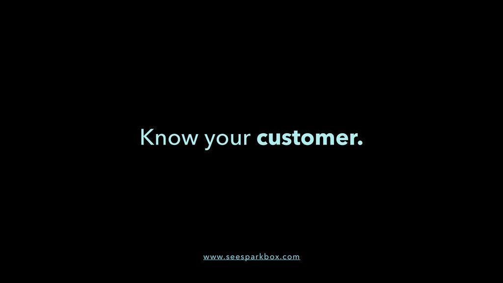 Know your customer. www.seesparkbox.com