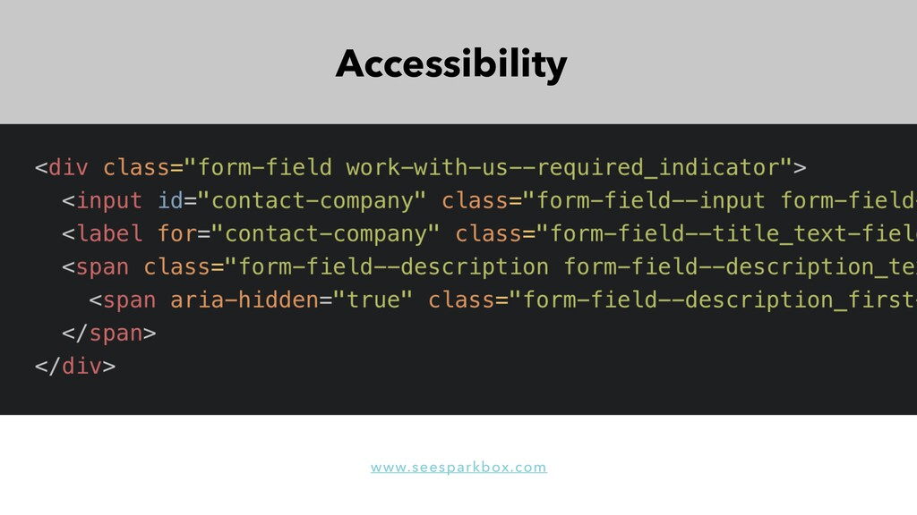 Accessibility www.seesparkbox.com