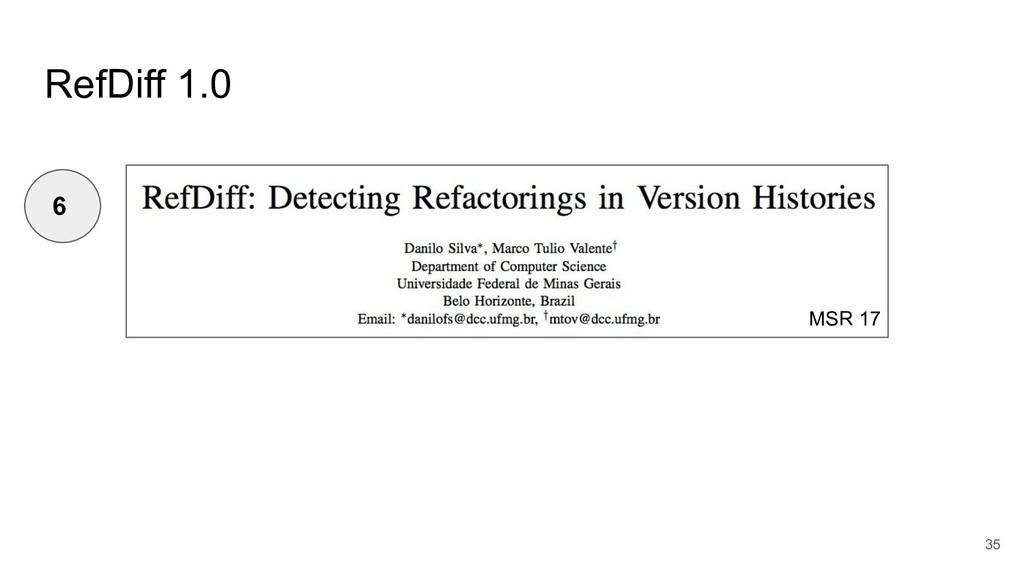 RefDiff 1.0 35 6 MSR 17