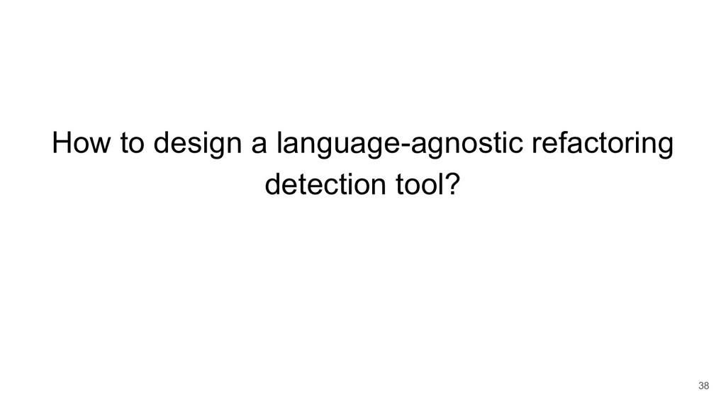 How to design a language-agnostic refactoring d...