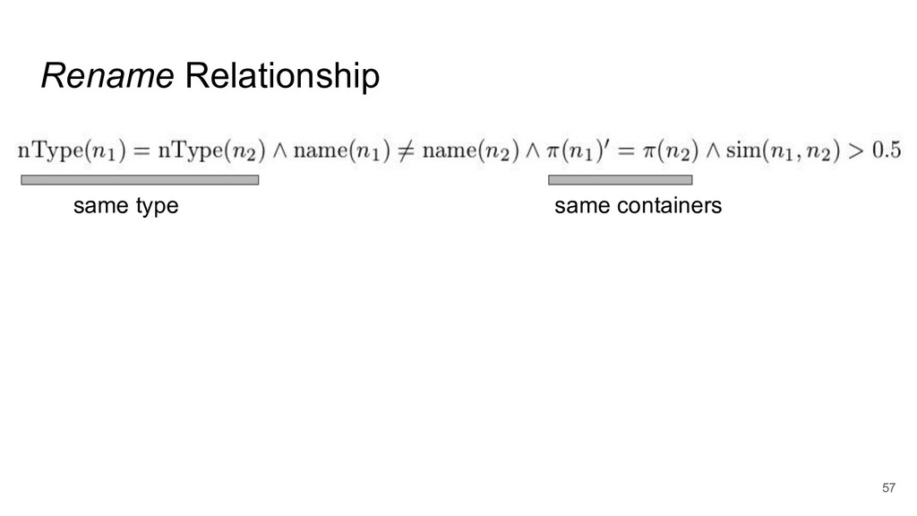 Rename Relationship 57 same type same containers
