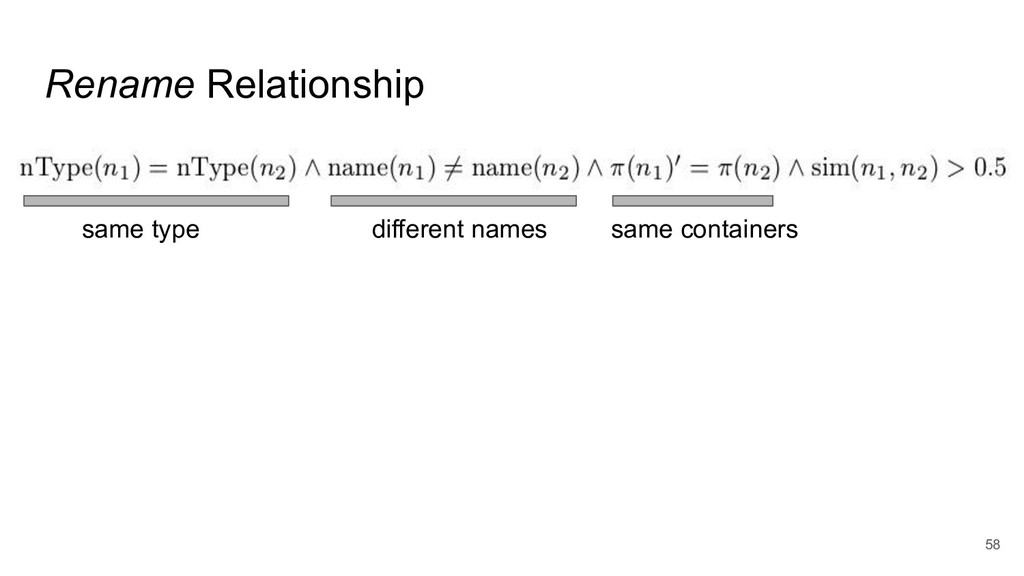 Rename Relationship 58 same type same container...