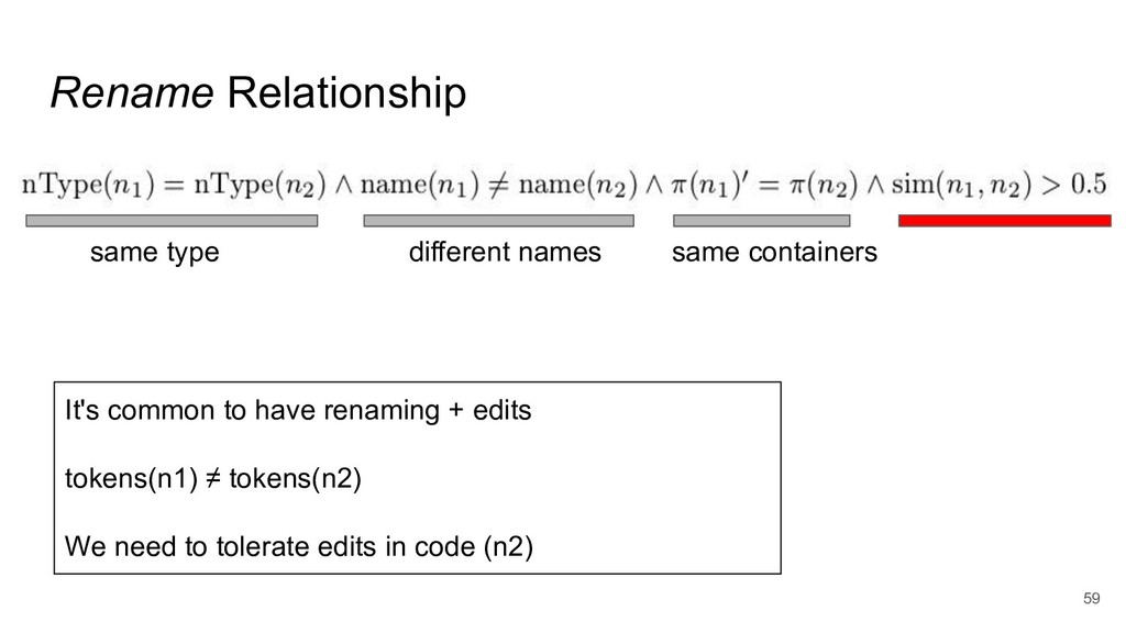 Rename Relationship 59 same type same container...