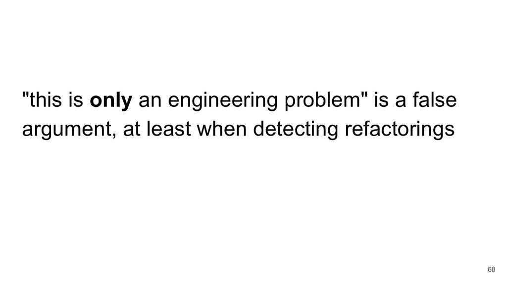 """""""this is only an engineering problem"""" is a fals..."""