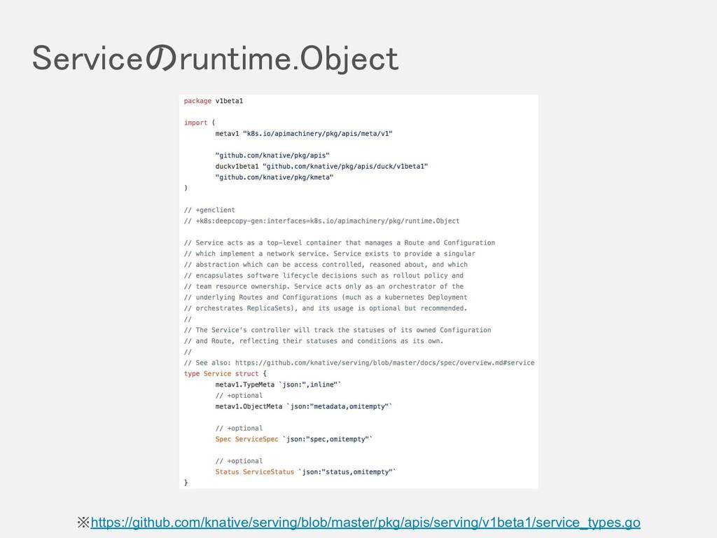 Serviceのruntime.Object ※https://github.com/kna...