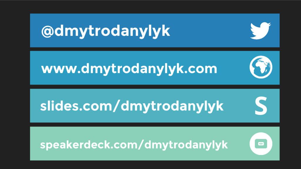 @dmytrodanylyk slides.com/dmytrodanylyk www.dmy...
