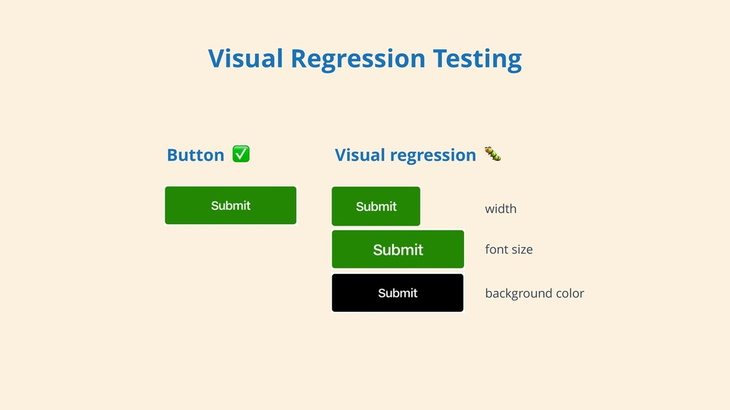 Visual Regression Testing Button ✅ Visual regre...