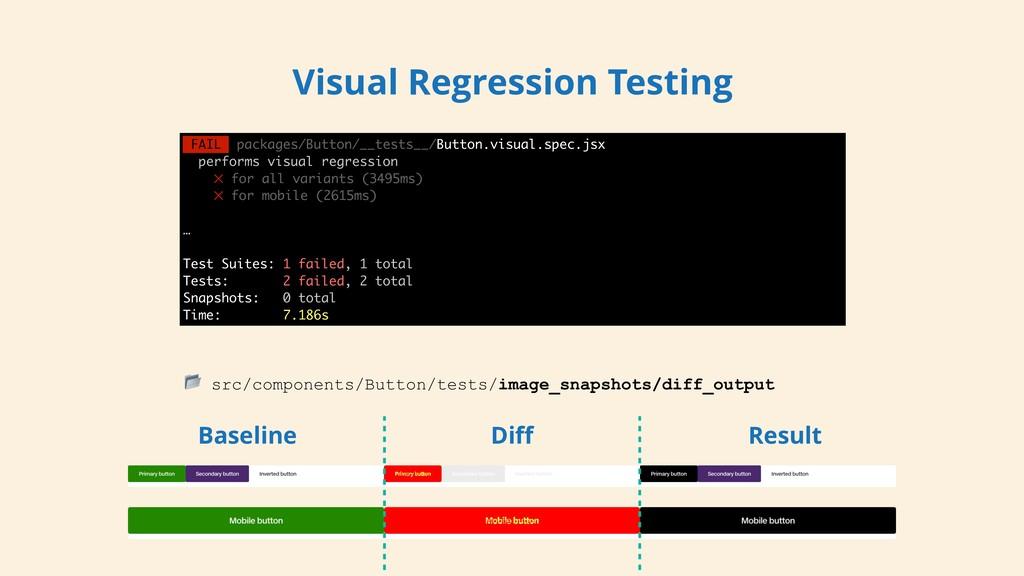 Visual Regression Testing  src/components/Butto...