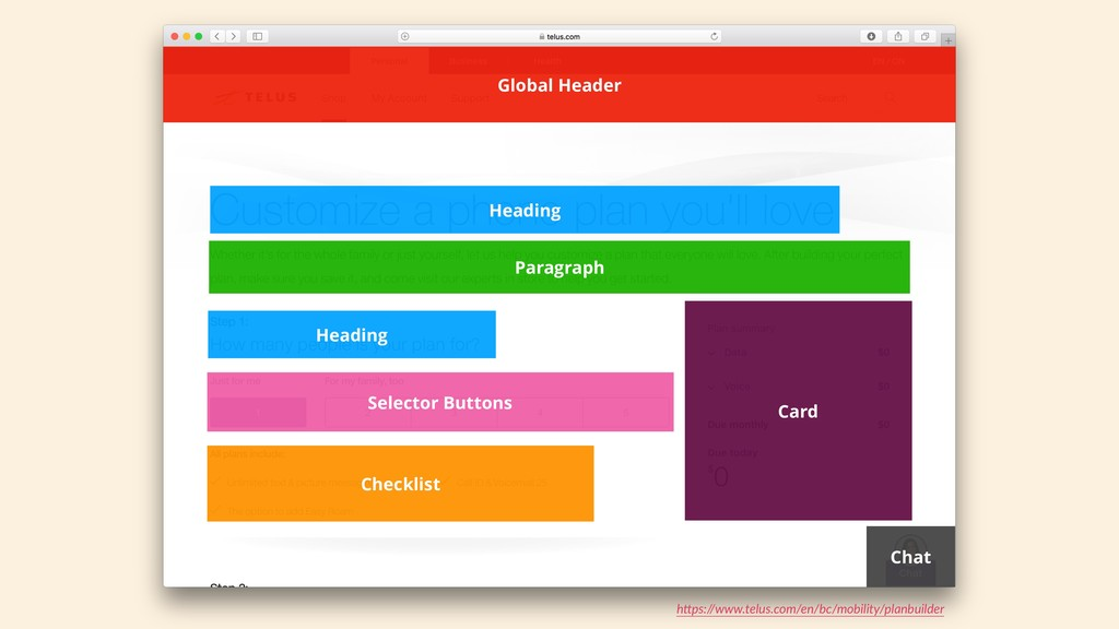 Heading Selector Buttons Checklist Card Global ...