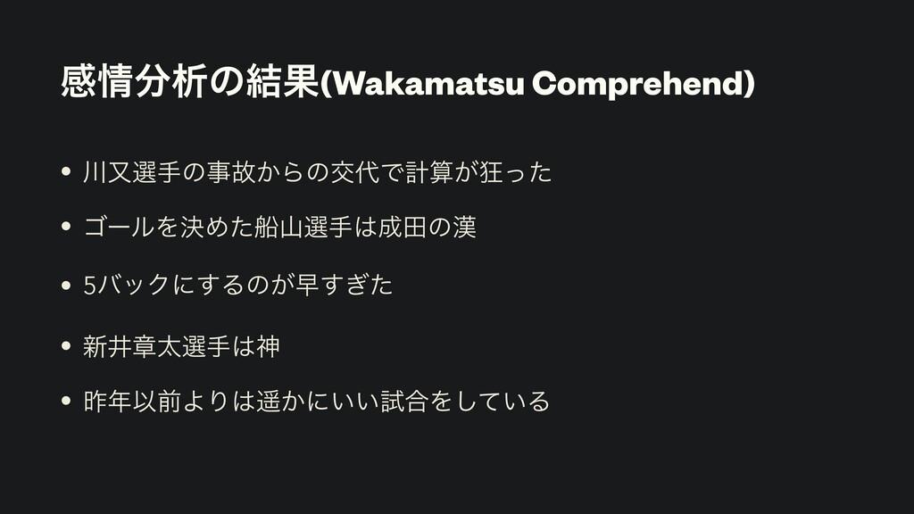 ײੳͷ݁Ռ(Wakamatsu Comprehend) • ຢબखͷނ͔ΒͷަͰܭ...