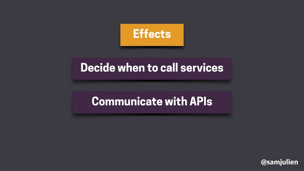 Effects @samjulien Decide when to call services...