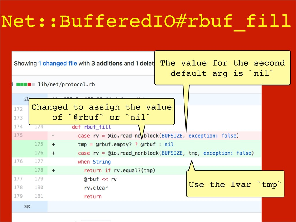 Net::BufferedIO#rbuf_fill Use the lvar `tmp` Ch...