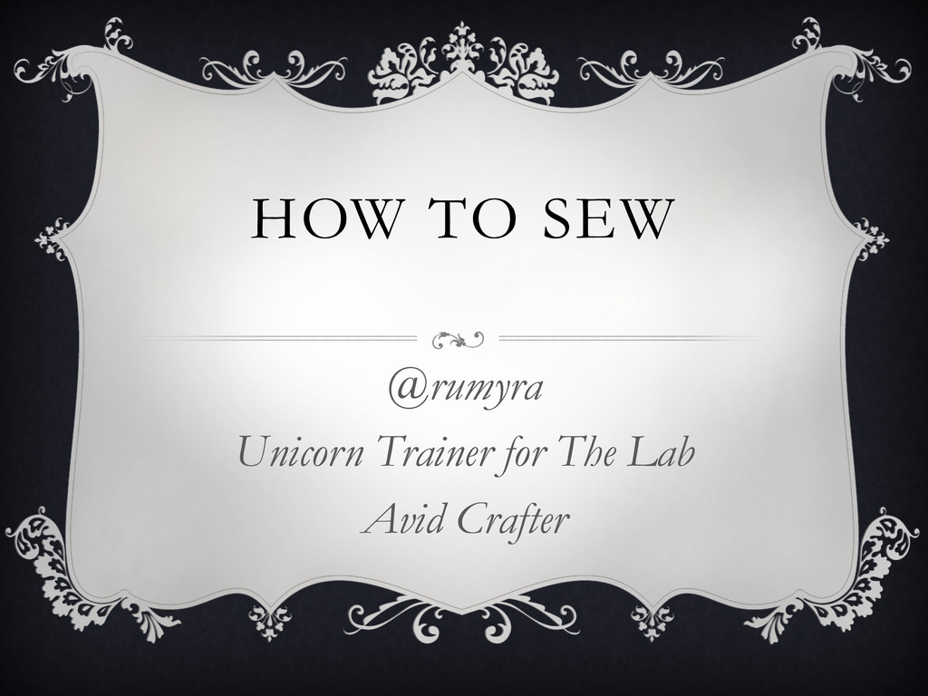 HOW TO SEW @rumyra Unicorn Trainer for The Lab ...
