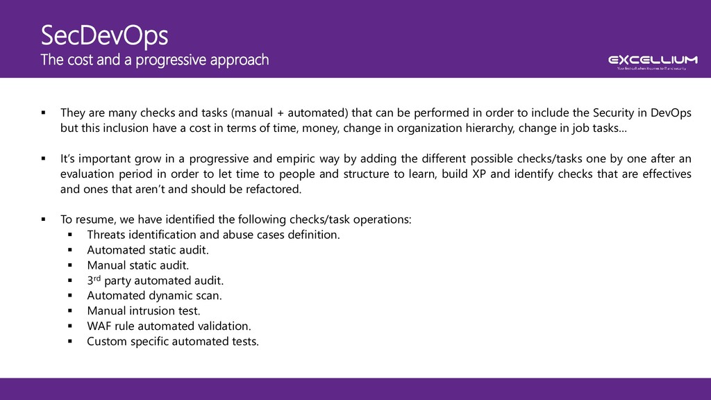 SecDevOps The cost and a progressive approach ...