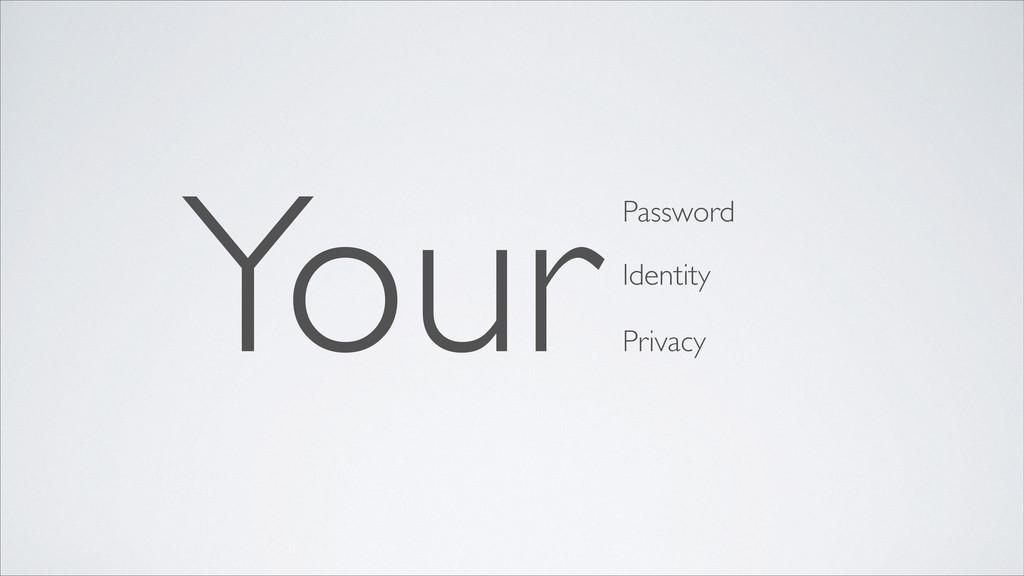 YourPassword Identity Privacy