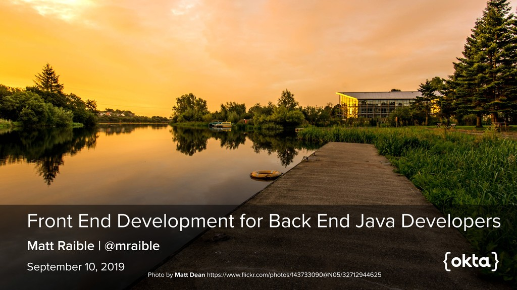 Front End Development for Back End Java Develop...