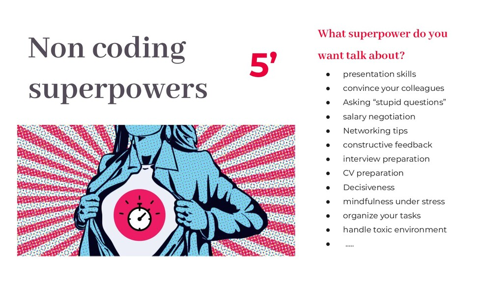 Non coding superpowers 5' What superpower do yo...