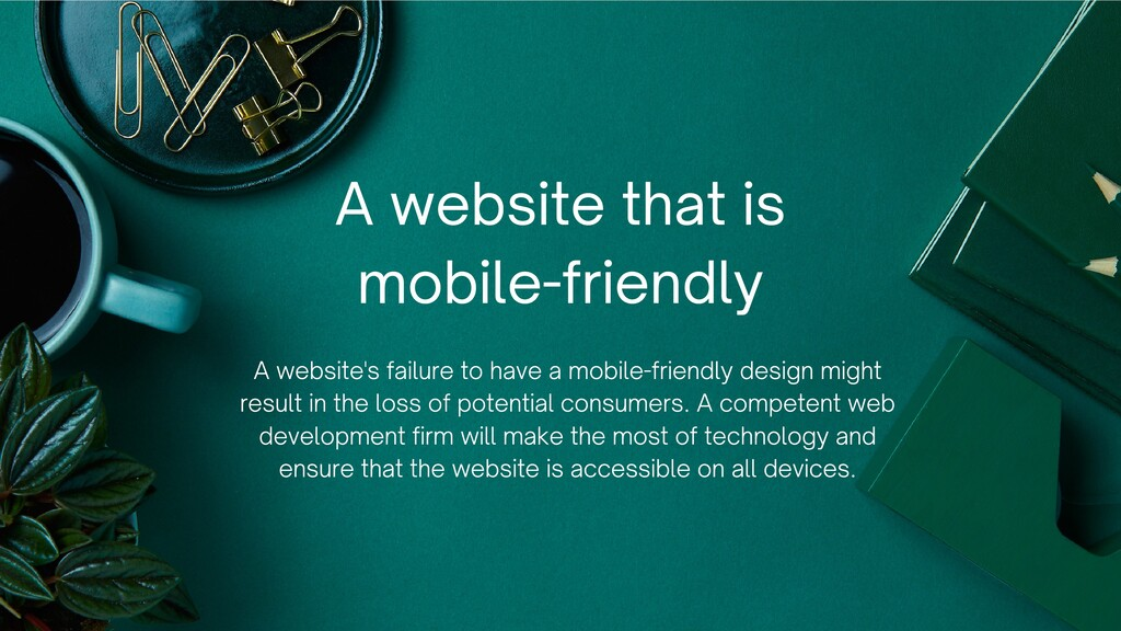A website's failure to have a mobile-friendly d...
