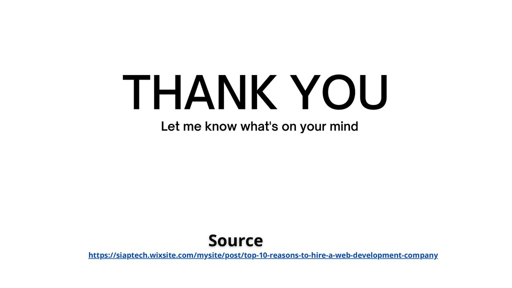 THANK YOU Let me know what's on your mind https...