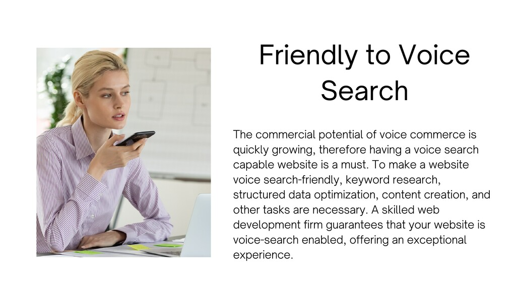 Friendly to Voice Search The commercial potenti...