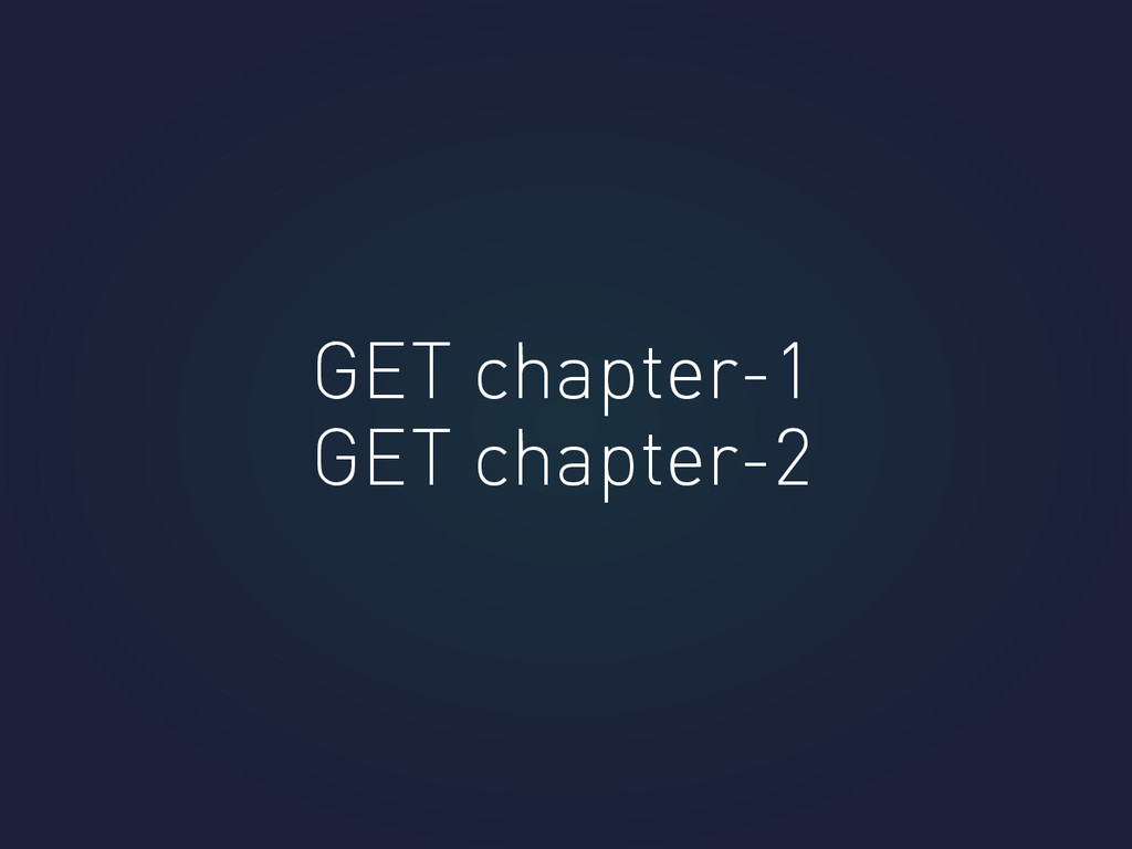 GET chapter-1 GET chapter-2