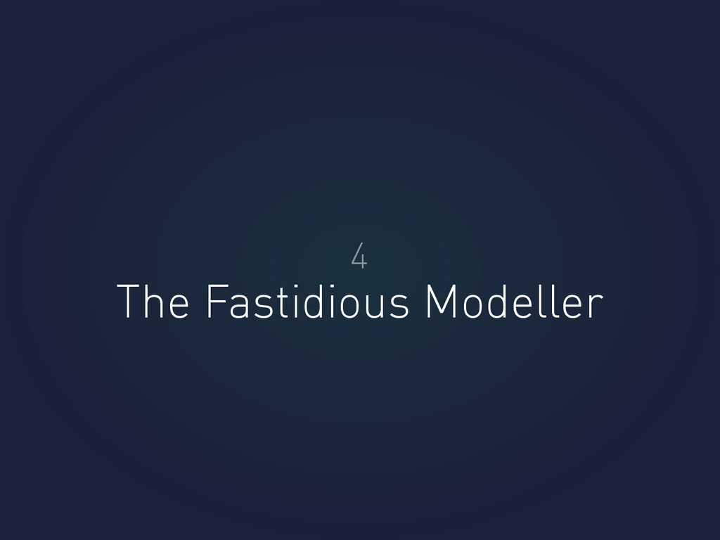 The Fastidious Modeller 4