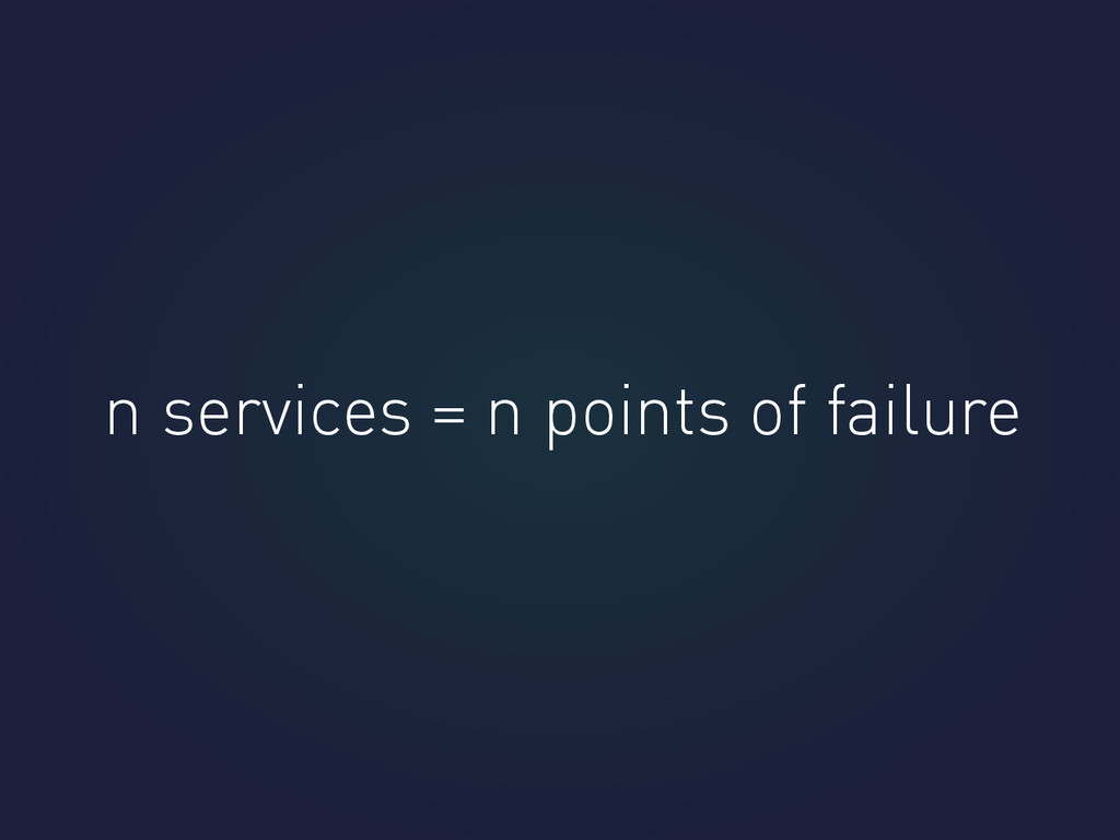n services = n points of failure