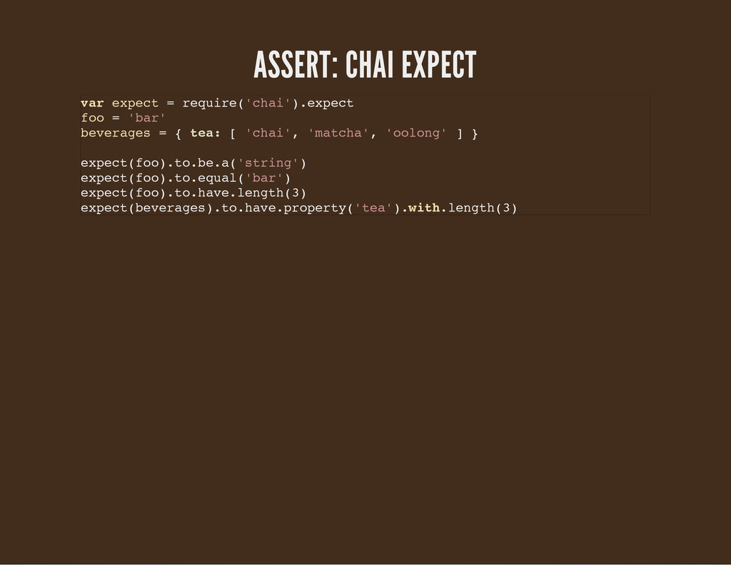 ASSERT: CHAI EXPECT v a r e x p e c t = r e q u...