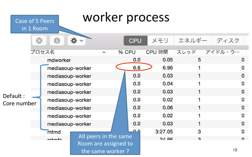 worker process 13 Default :  Core...