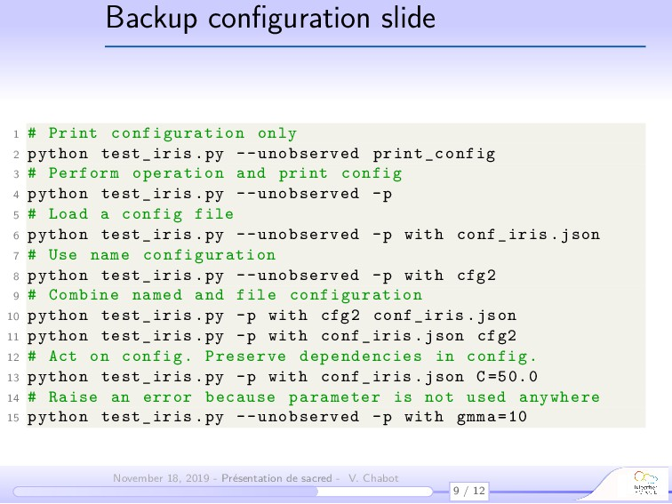 Backup configuration slide 1 # Print configurati...