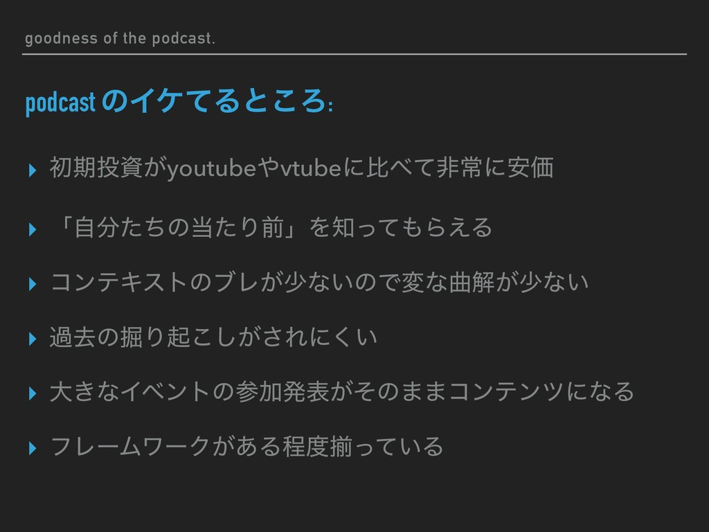 goodness of the podcast. podcast ͷΠέͯΔͱ͜Ζ: ▸ ॳظ...