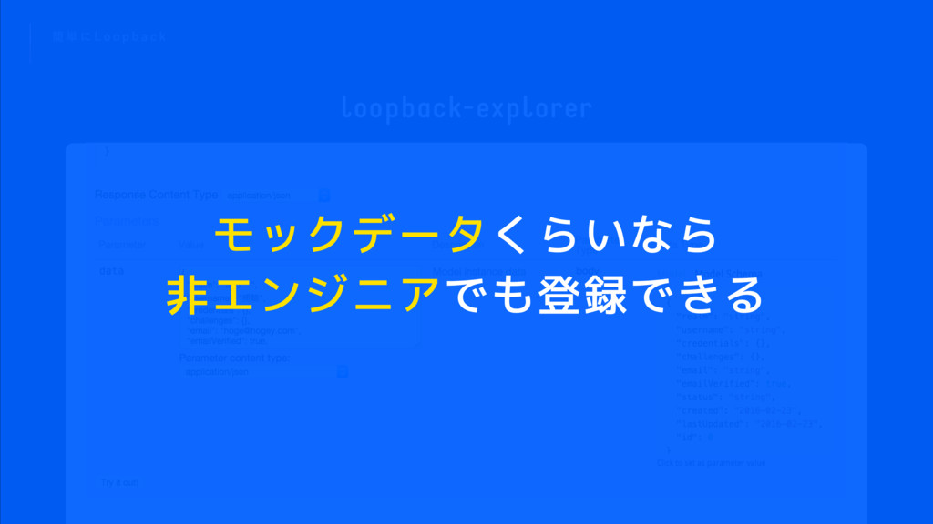 loopback-explorer ؆ ୯ ʹ - P P Q C B D L モックデータく...