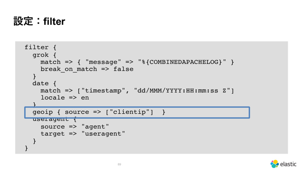 """ઃఆɿfilter 89 filter { grok { match => { """"messag..."""