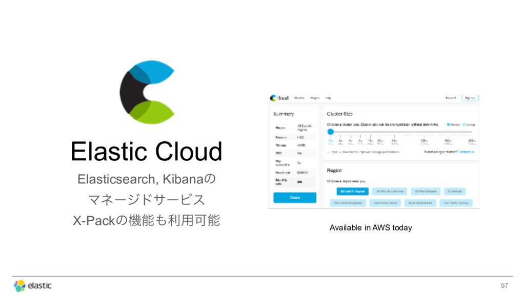 97 Elastic Cloud Elasticsearch, Kibanaͷ Ϛωʔδυαʔ...