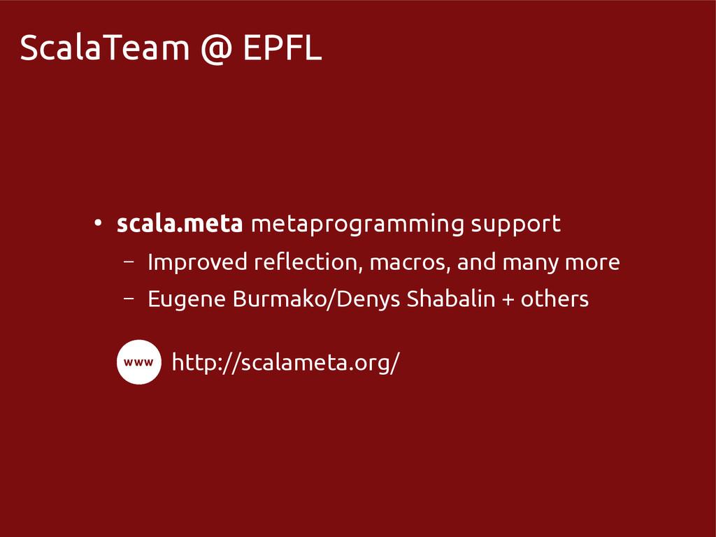 scala-miniboxing.org ScalaTeam @ EPFL ● scala.m...