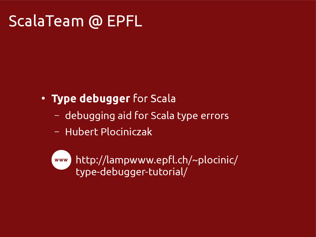 scala-miniboxing.org ScalaTeam @ EPFL ● Type de...