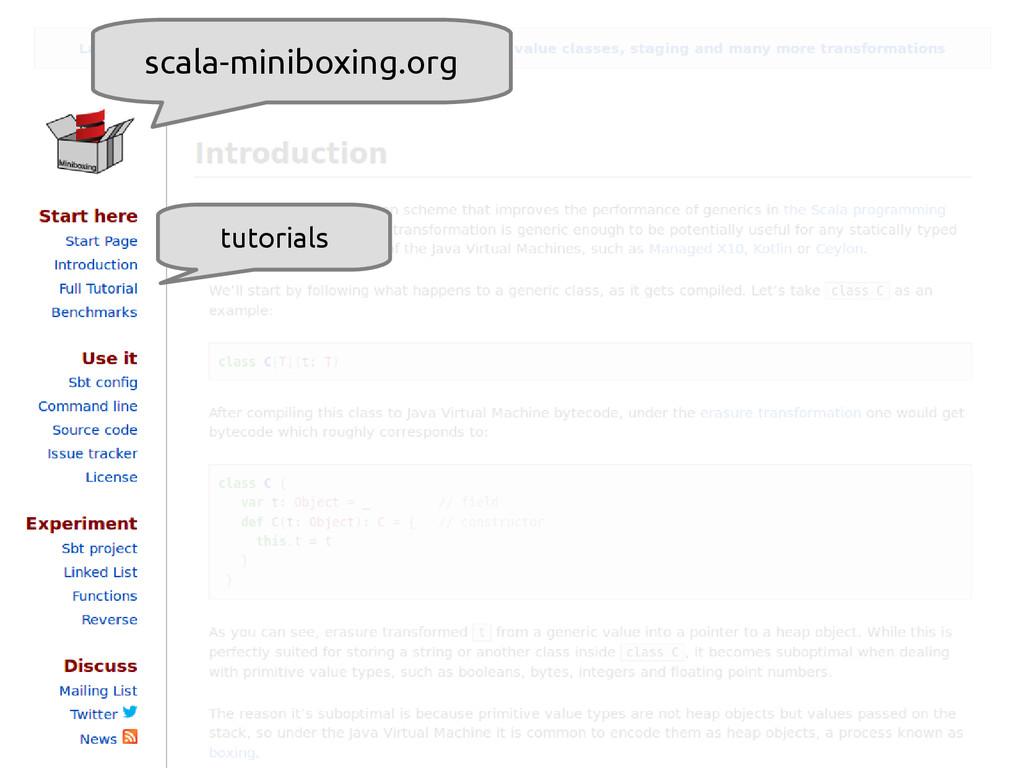 scala-miniboxing.org scala-miniboxing.org tutor...