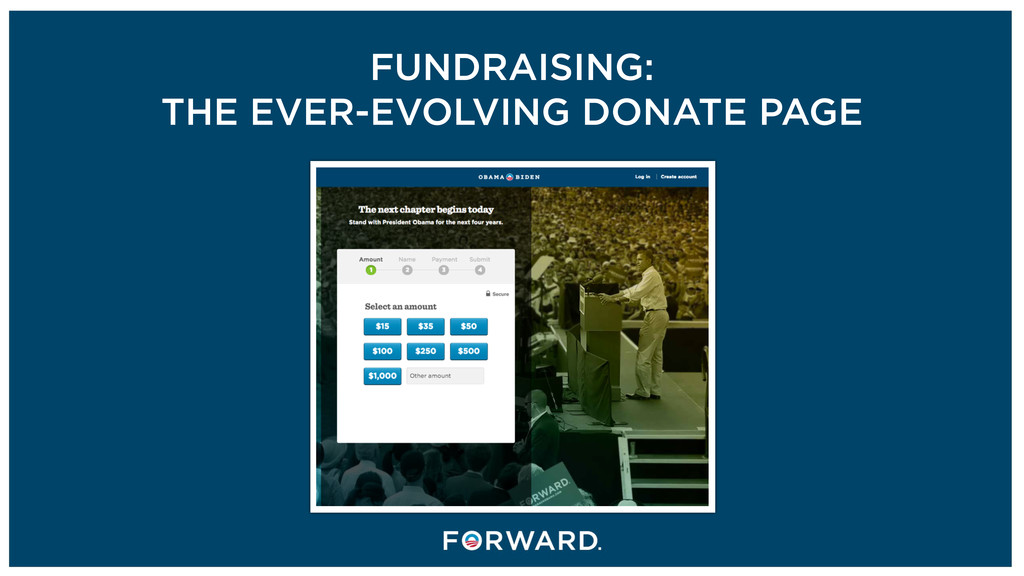 FUNDRAISING: THE EVER-EVOLVING DONATE PAGE