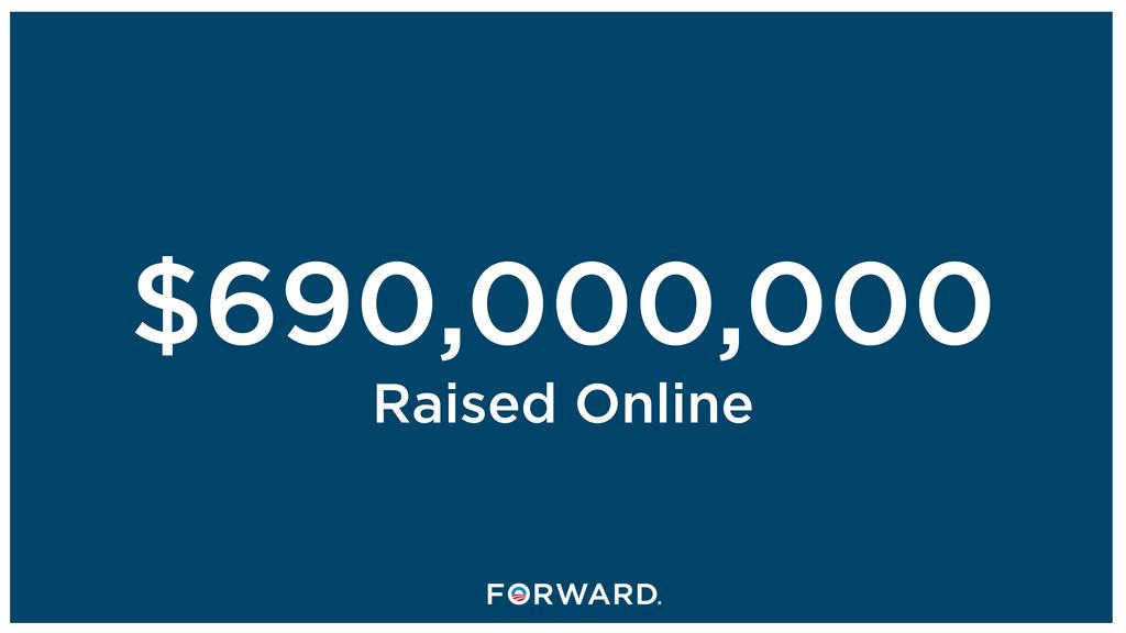 $690,000,000 Raised Online