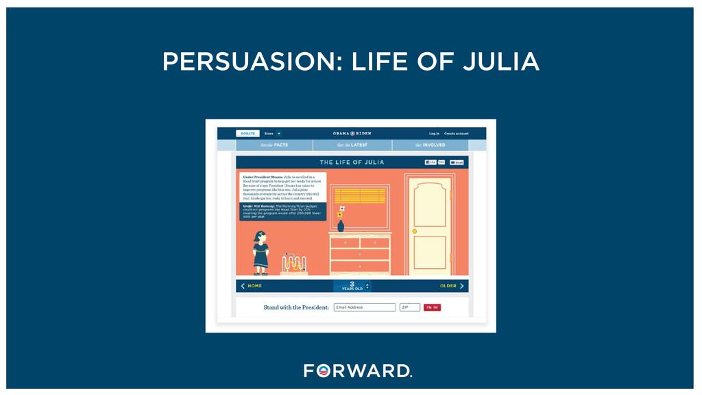 PERSUASION: LIFE OF JULIA