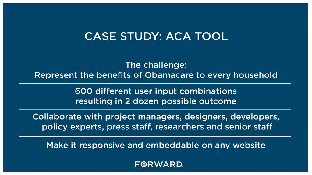 CASE STUDY: ACA TOOL The challenge: Represent t...