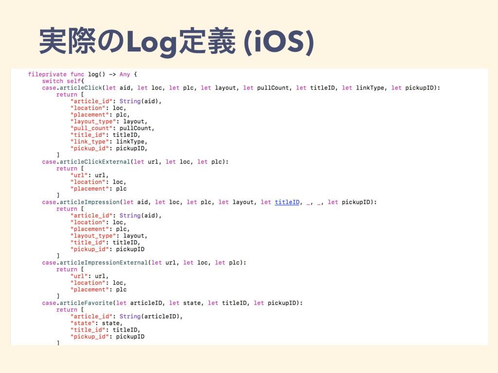 ࣮ࡍͷLogఆٛ (iOS)