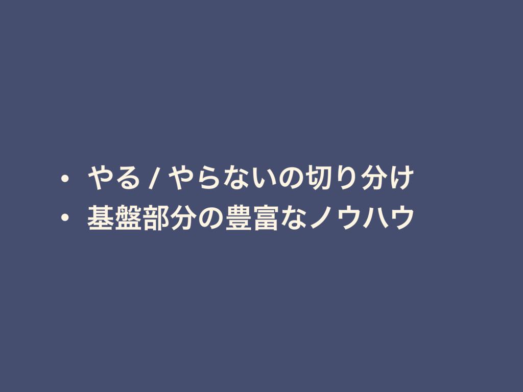 • Δ / Βͳ͍ͷΓ͚ • ج൫෦ͷ๛ͳϊϋ
