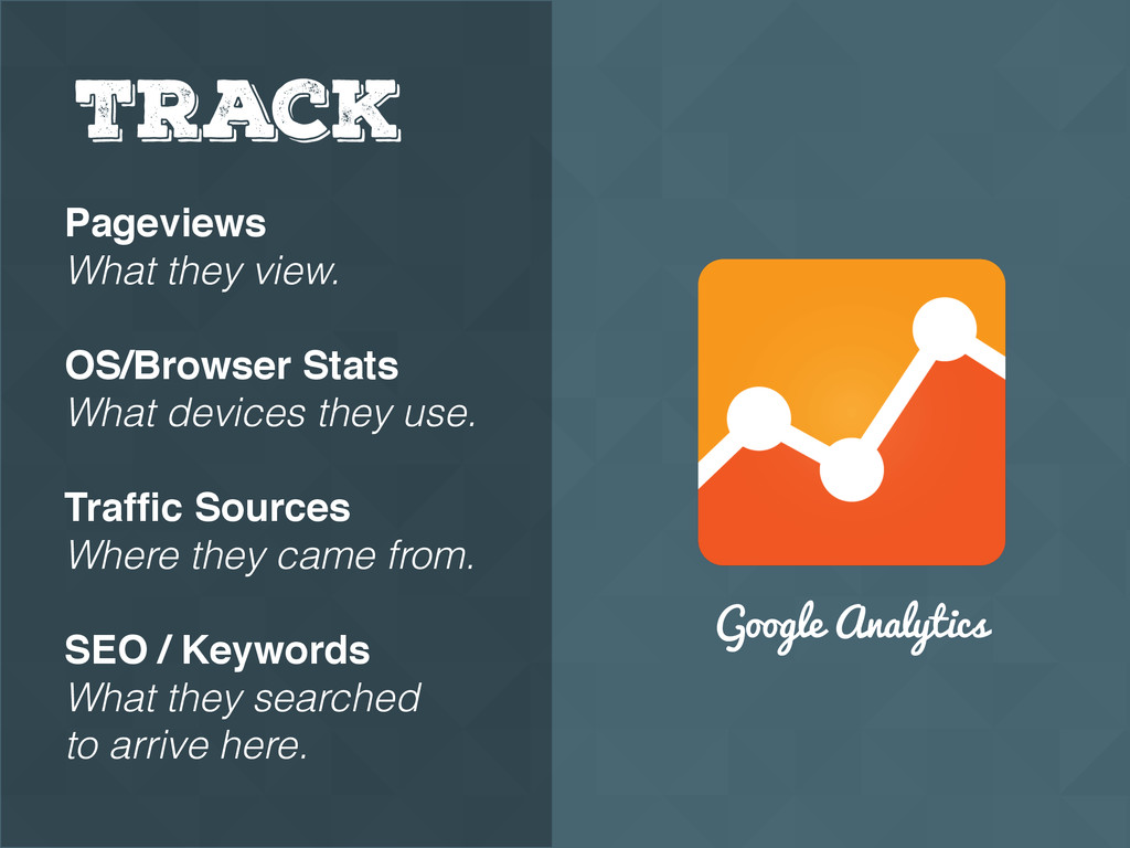Google Analytics Track Pageviews What they view...