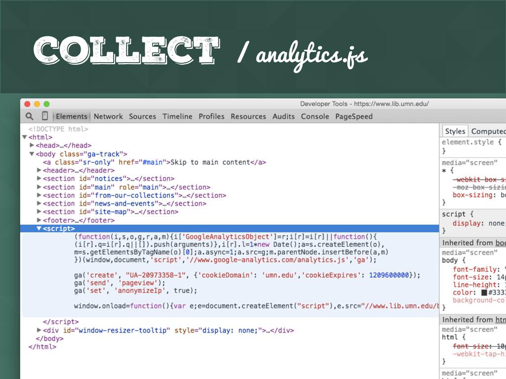 Collect / analytics.js
